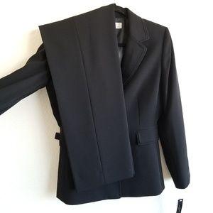 Tahari ASL 2 Piece Pant Suit Black High Waist 218